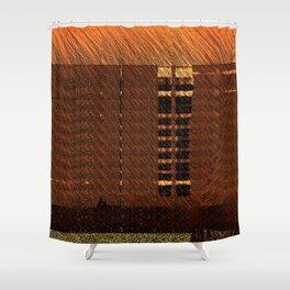 Brown Orange Wisps Shower Curtain