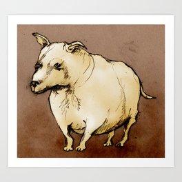 Ugly dog Art Print