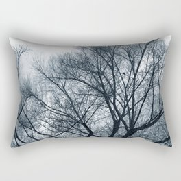Bare Trees on a Grey Day Rectangular Pillow