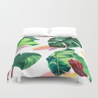 palm Duvet Covers featuring PALM by Ellie Cryer