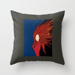 Fire Woman Throw Pillow