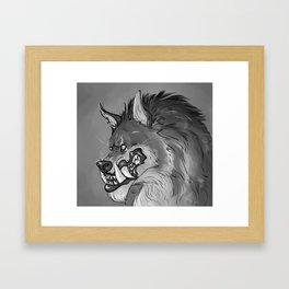 Werewolf Portrait Framed Art Print