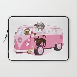 Happy pink bus Laptop Sleeve