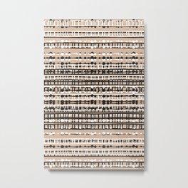 Abstract Net - Neutral Metal Print