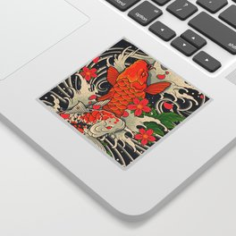Art of Koi Fish Leggings Sticker
