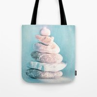lighthouse Tote Bags featuring LIGHTHOUSE by INA FineArt