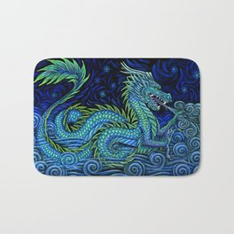 Chinese Azure Dragon Bath Mat