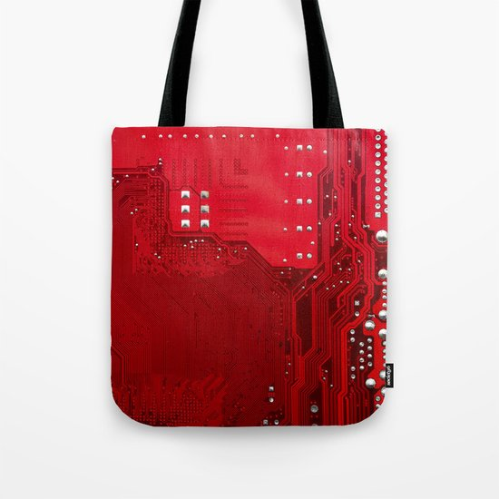 red electronic circuit board by tony4urban