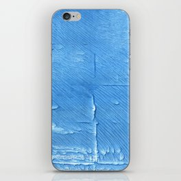 Blue Jeans abstract watercolor iPhone Skin