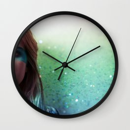 Glitter and grease. Wall Clock