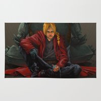 fullmetal Area & Throw Rugs featuring Don't Forget by Xeraki