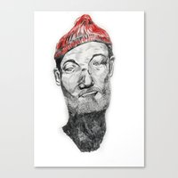 zissou Canvas Prints featuring Zissou by Nick Zafir