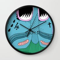 swag Wall Clocks featuring Swag Peso by Marco Oggian