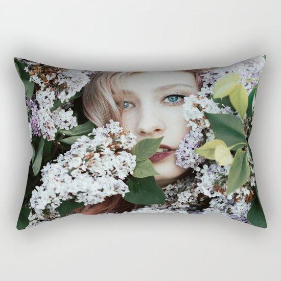 Lilac girl Rectangular Pillow