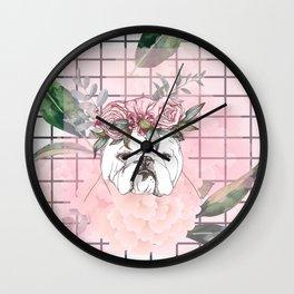 Pitbull Roses Style Wall Clock