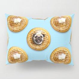 Pug Waffles Pillow Sham