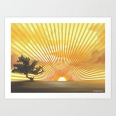 Marylin Sunset Art Print