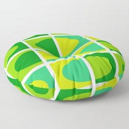 Vivid green shades. Fresh geometric pattern.  Floor Pillow