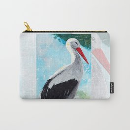 Animal - The beautiful stork - by LiliFlore Carry-All Pouch