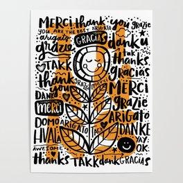 merci thanks grazie arigato Poster