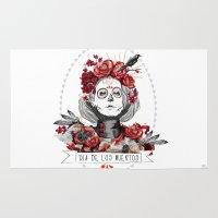 dia de los muertos Area & Throw Rugs featuring Dia de los muertos by sarah rie