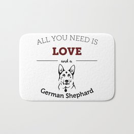 All You Need Is Love and a German Shephard Bath Mat