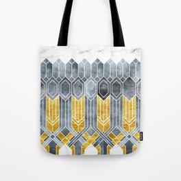 Turtle Shell Geometric | Art Deco Tote Bag
