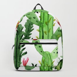 Green Simple Cacti Backpack