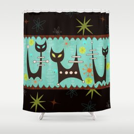 Atomic Cats Shower Curtain