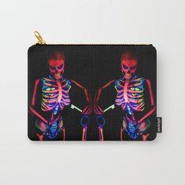 Black Light Skeleton  Carry-All Pouch