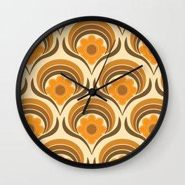 Orange  Daisy Dream Wall Clock