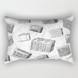 Unique Vintage Suitcases Design Rectangular Pillow