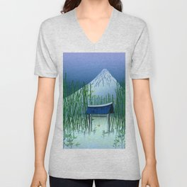 A moonless night Unisex V-Neck