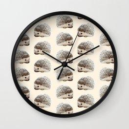 cute beige woodland animal baby hedgehog Wall Clock