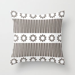 Illusion and Circles Throw Pillow