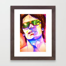 Pencil face Framed Art Print
