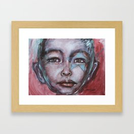 Star Boy Superhero Framed Art Print