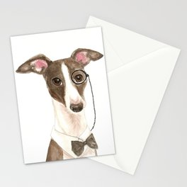 Italian Greyhound Geek Stationery Cards
