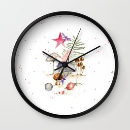 Dear Fall Wall Clock