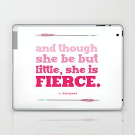Little, but Fierce (pink) Laptop & iPad Skin