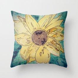 Sunflower madness Throw Pillow