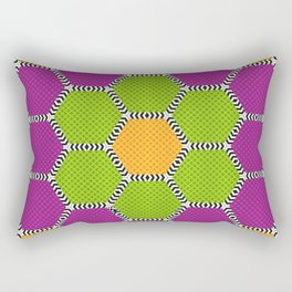 Vibrant honeycomb pattern with brilliant colours Rectangular Pillow