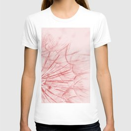 Dandelion In Pink T-shirt