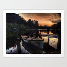 Golden Sunset over Loch Ard Art Print