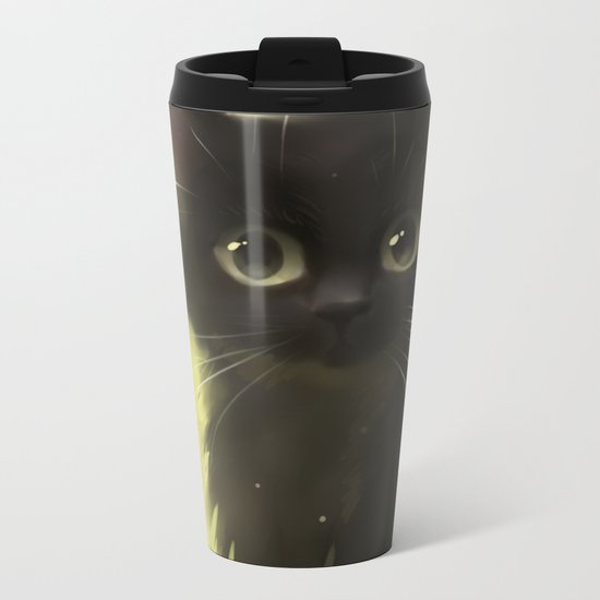 Savage Cat Metal Travel Mug