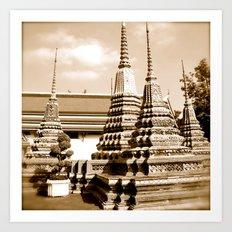 Wat Po a beautiful temple in Thailand (Bangkok & Travel) - Thai Massage School Art Print
