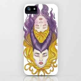 Maleficient's heart iPhone Case