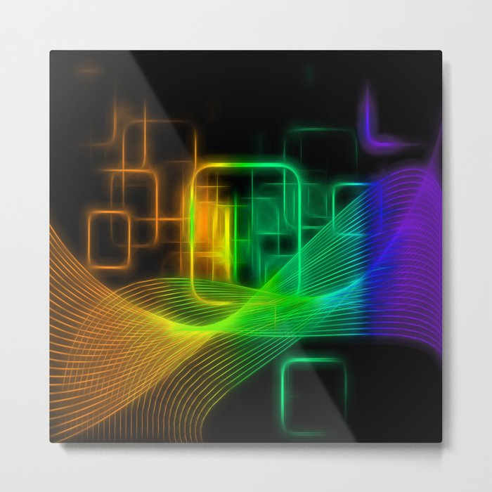 Abstract glowing lines Metal Print