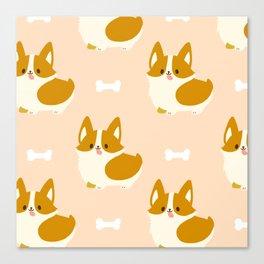Kawaii Cute Corgi Canvas Print