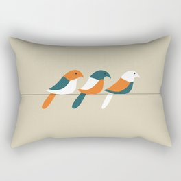 Birds on wire Rectangular Pillow